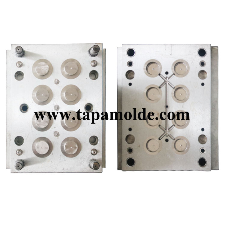 8 cavities pot cover mould